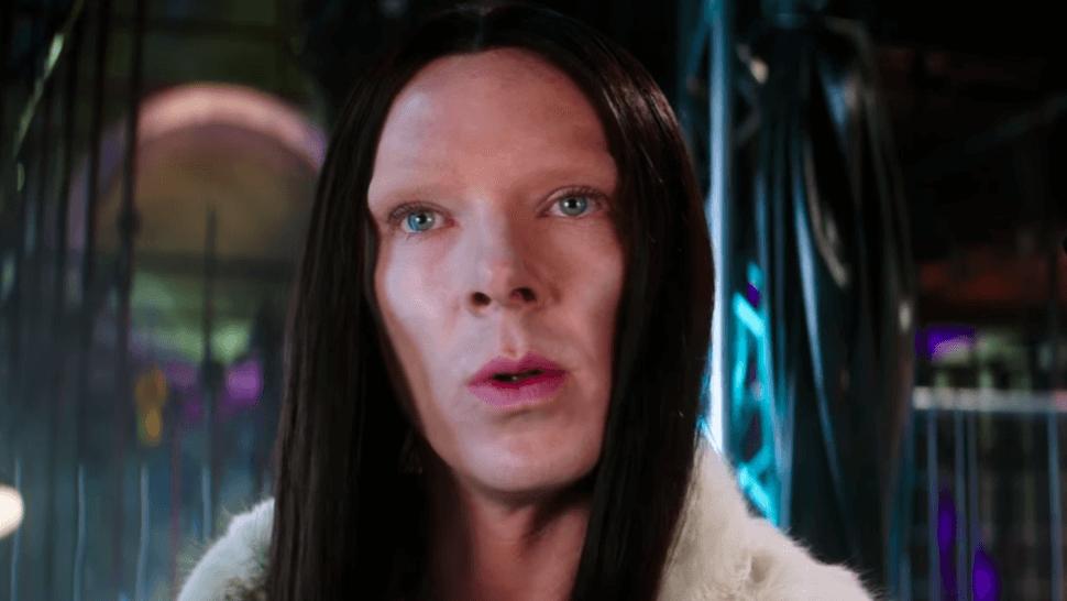 benedict cumberbatch with no eyebrows