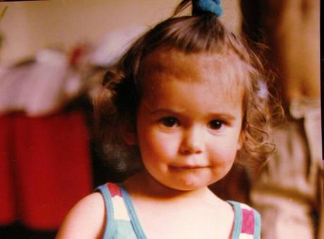 Nina Dobrev as a child