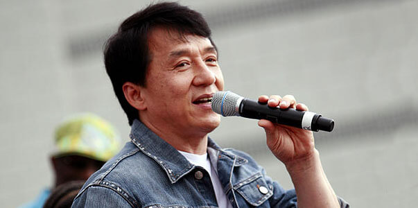 Jackie Chan as a singer