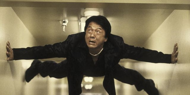 Jackie Chan doing his own stunts