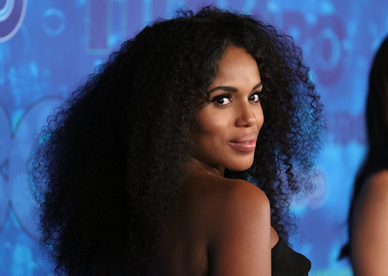 Kerry Washington with a curly mane