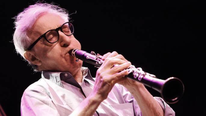 Woody Allen plays the clarinet