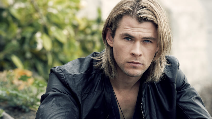 Chris Hemsworth with long hair