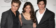 Nina Dobrev and her costars from the Vampire Diaries